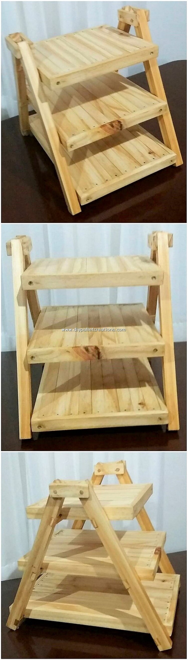 Pallet Mini Shelving Stand
