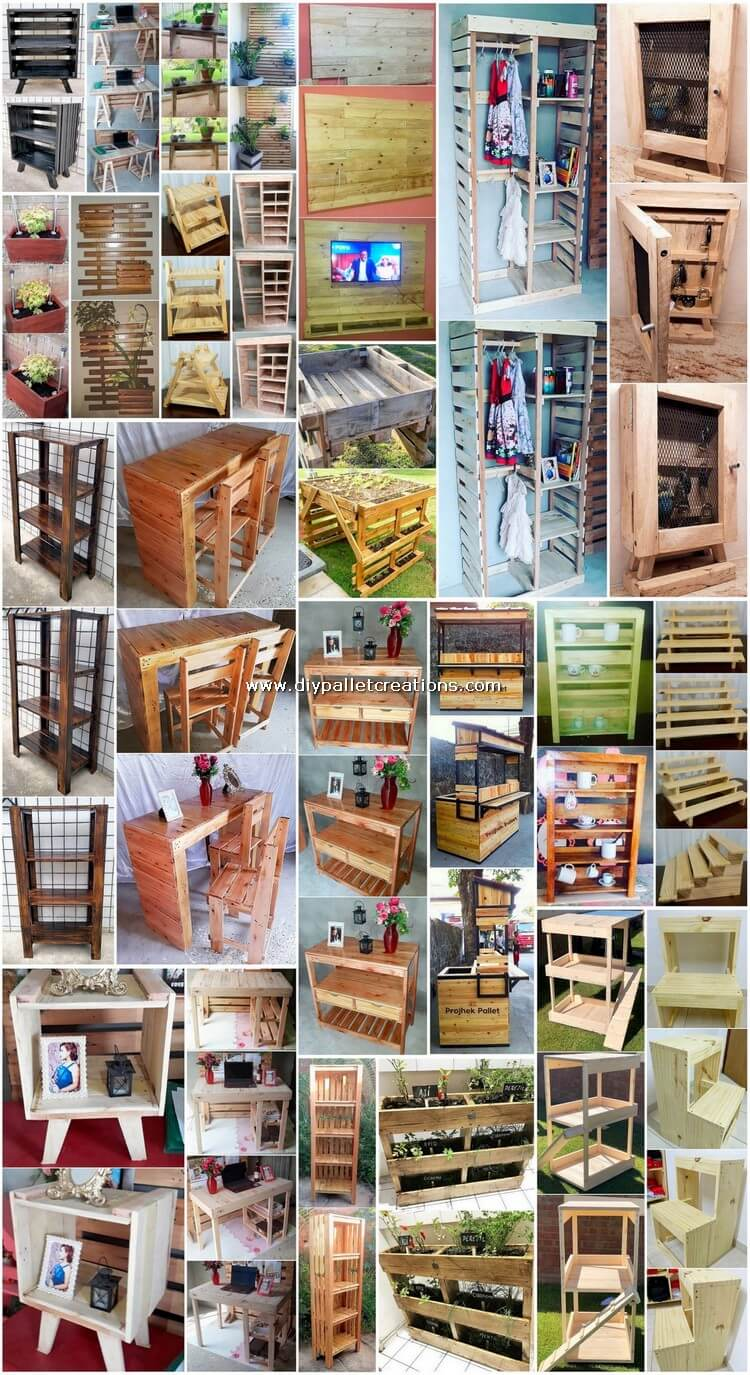 Tremendous DIY Wood Pallet Creations and Projects