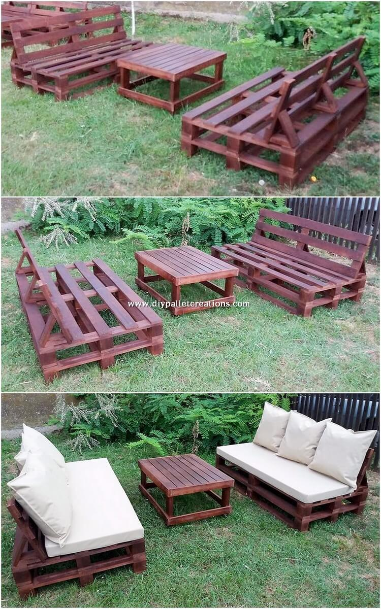 Wood Pallet Benches and Table