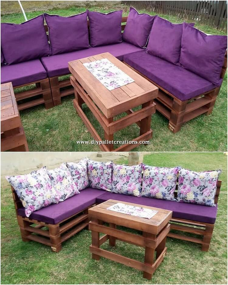 Wooden Pallet Couch and Table