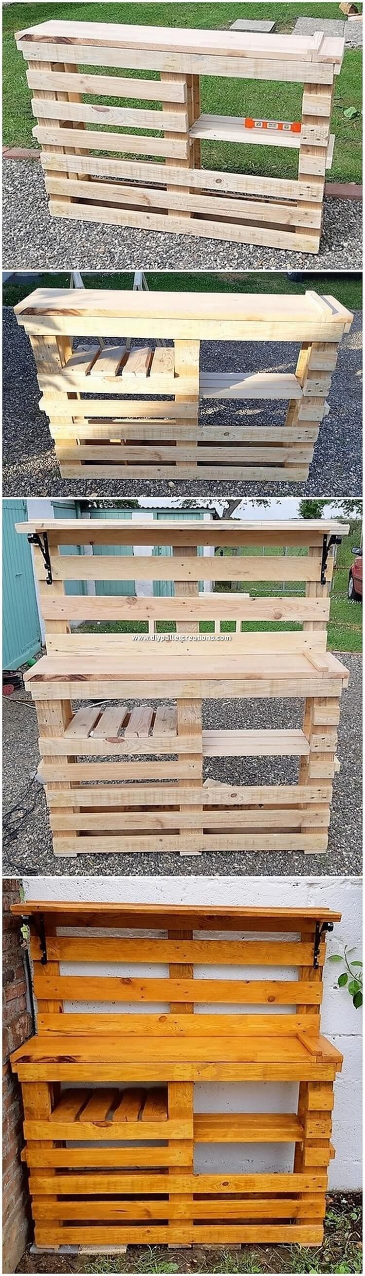 DIY Pallet Garden Counter Table