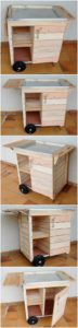 DIY Pallet TV with Cabinet on Wheels