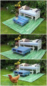Pallet Garden Terrace and Furniture