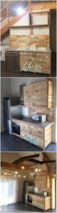 Pallet Kitchen Cabinets