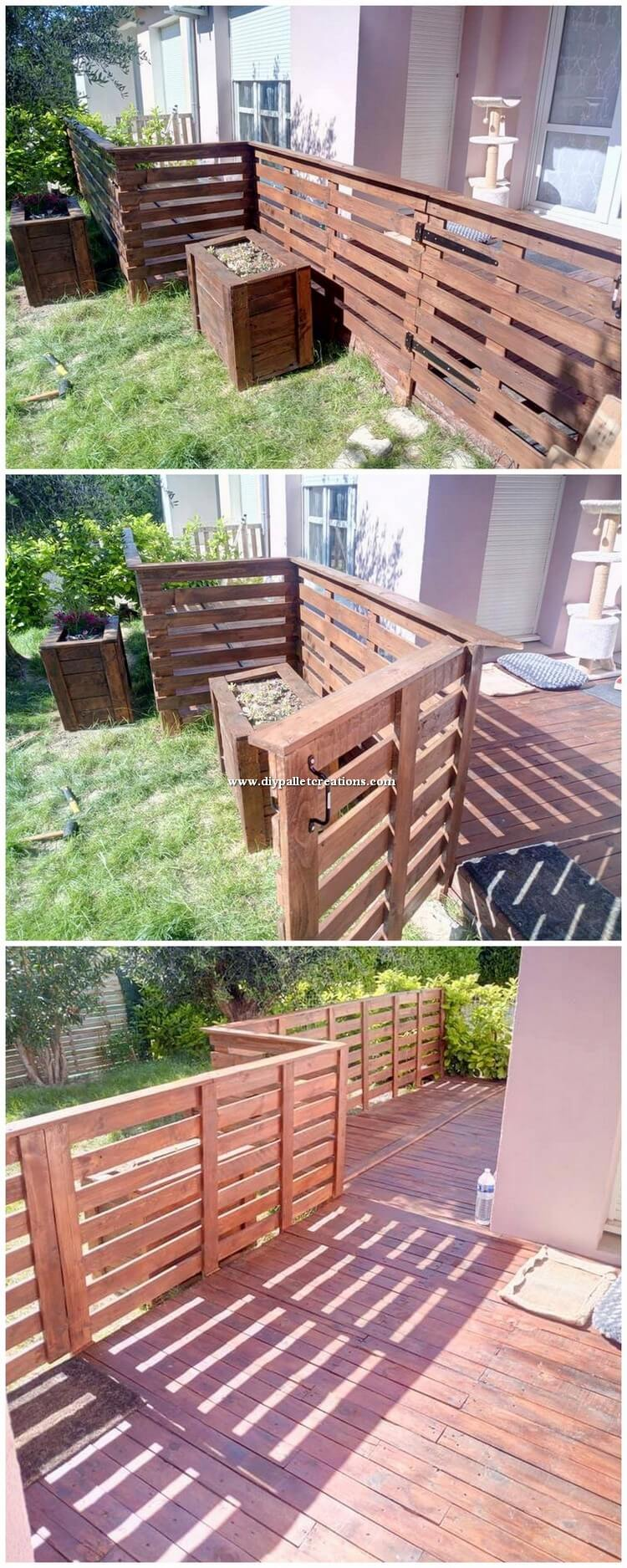 Pallet Wood Garden Creation