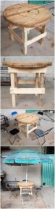Round Top Pallet Table