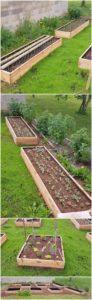 Wooden Pallet Garden Planters