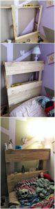 DIY Pallet Bed Headboard