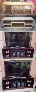 DIY Pallet Media Table or Cabinet