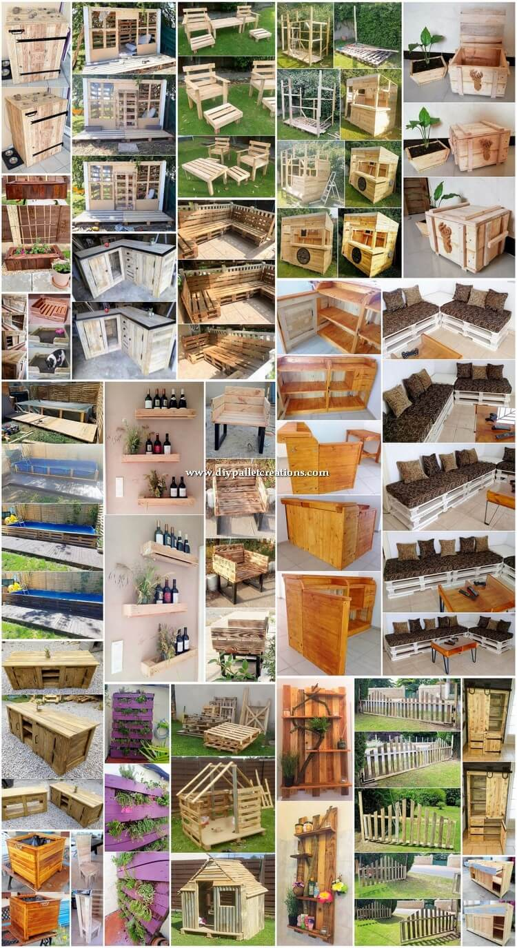 Easy to Build DIY Wood Shipping Pallet Projects