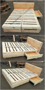 Pallet Bed with Drawers