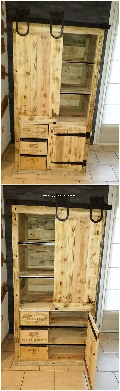 Pallet Cabinet or Closet