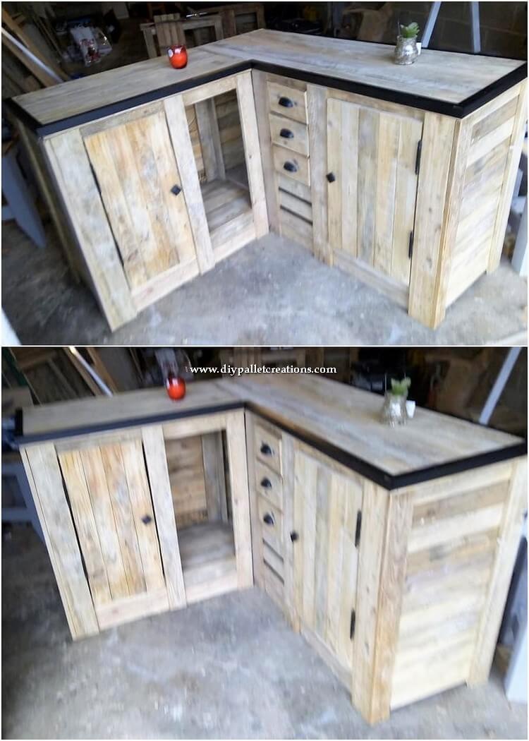 Pallet Corner Table or Cabinet
