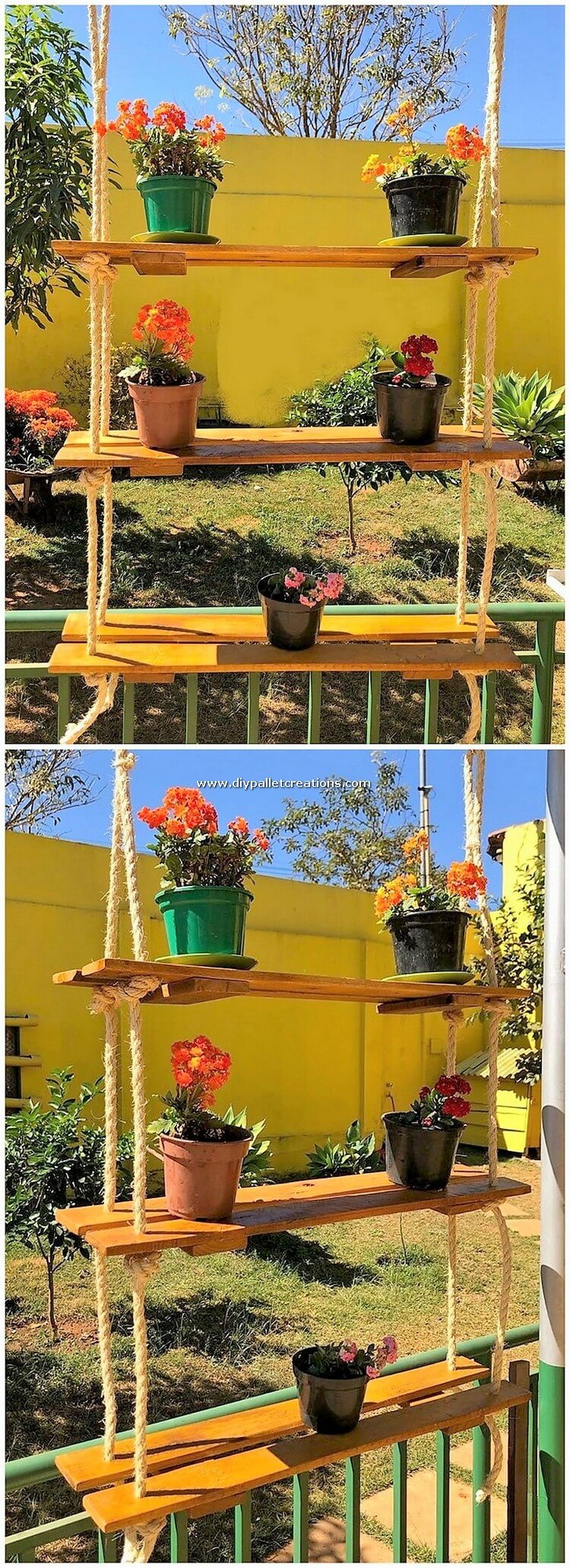 Pallet Pots Hanging