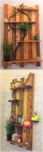 Pallet Wall Decorative Shelf