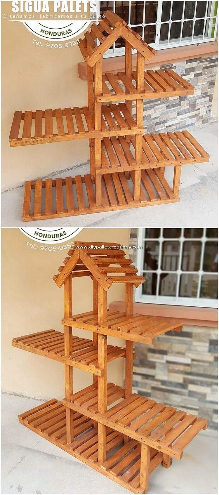 Pallet Wood Shelving Stand