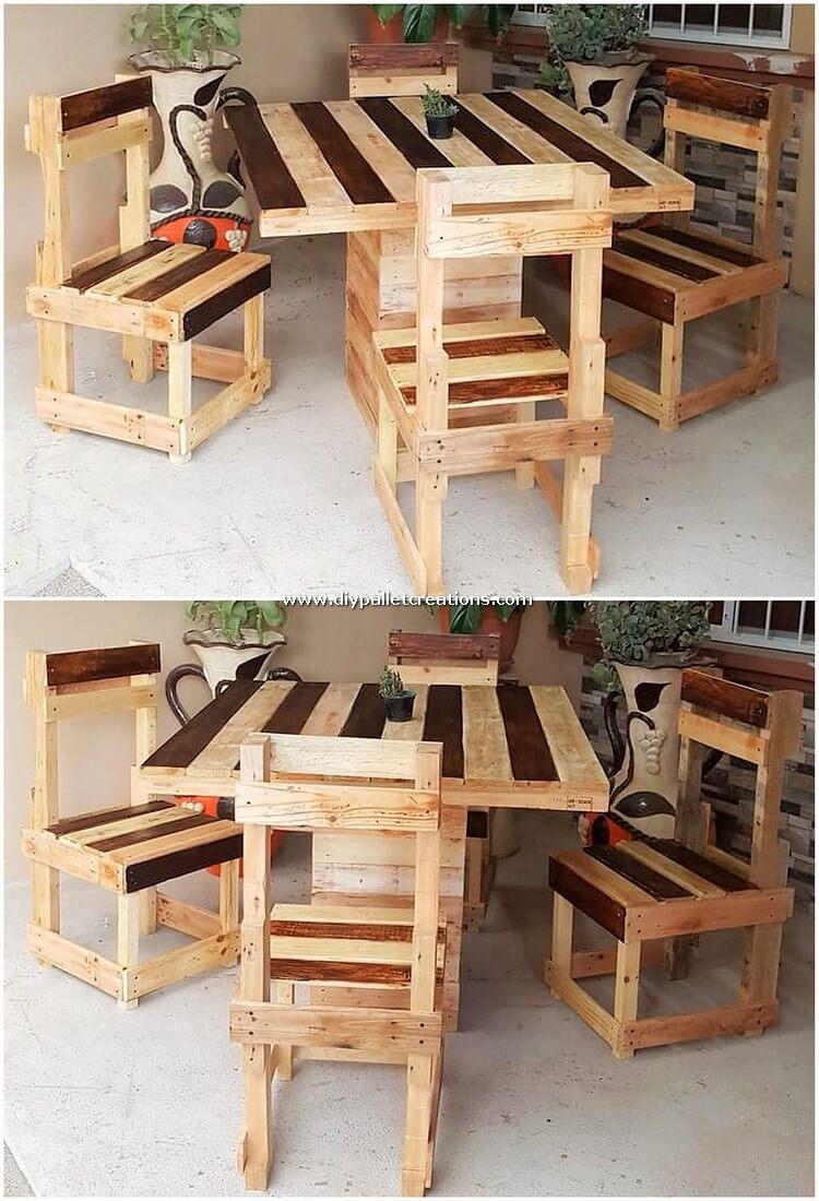 Wood Pallet Dining Furniture