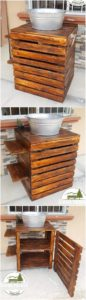 Wood Pallet Sink with Cabinet