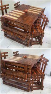Wooden Pallet Dining Furniture