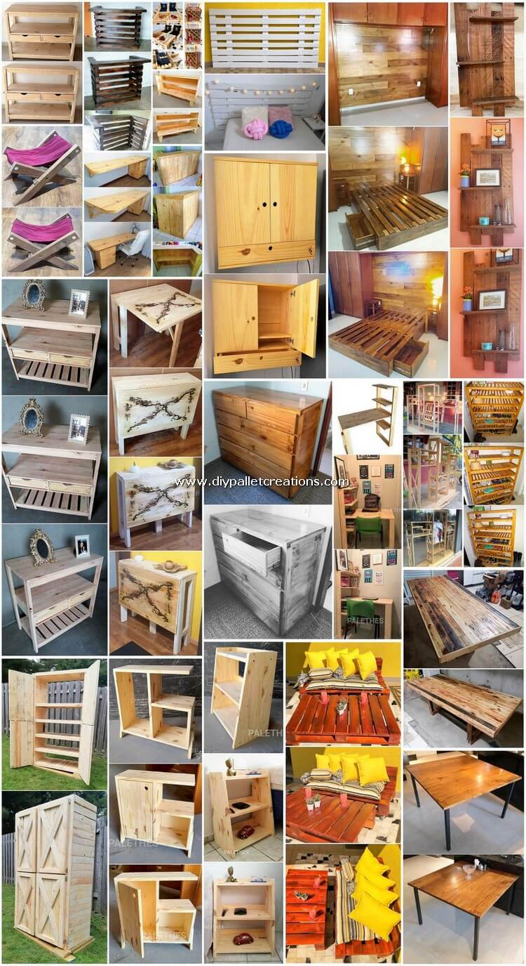 Easy DIY Crafting Ideas Made with Shipping Pallets