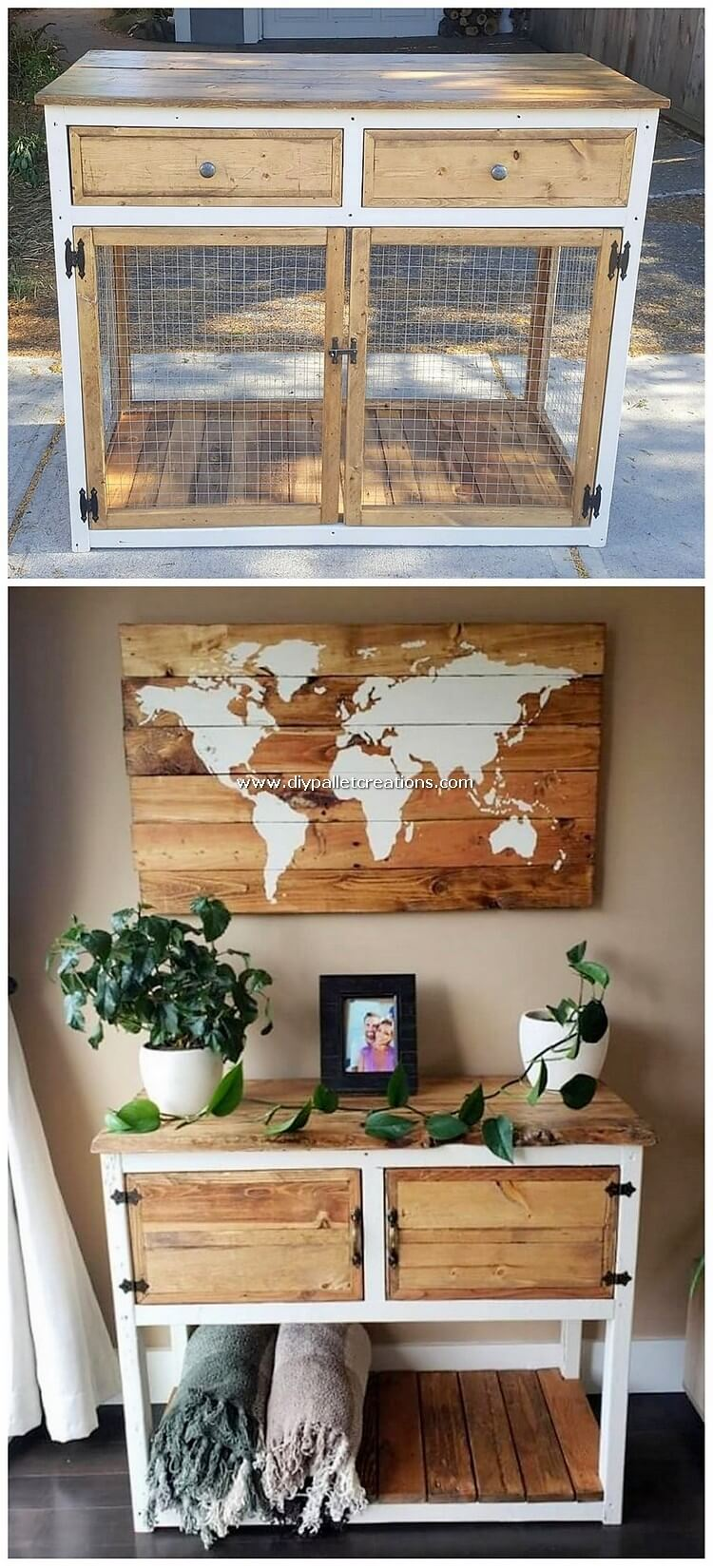 Pallet Cabinet and Wall Decor