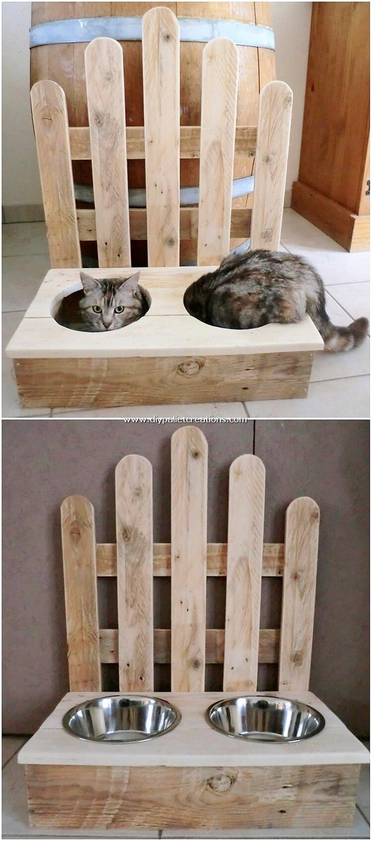 Pallet Cat Food Feeder