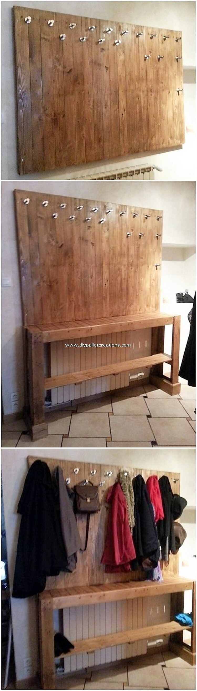 Pallet Coat Rack with Table
