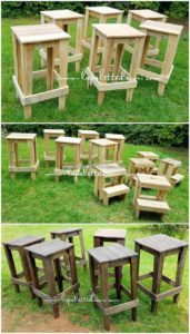 Pallet Side Tables or Stools