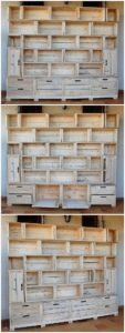Pallet Wood Shelving Unit