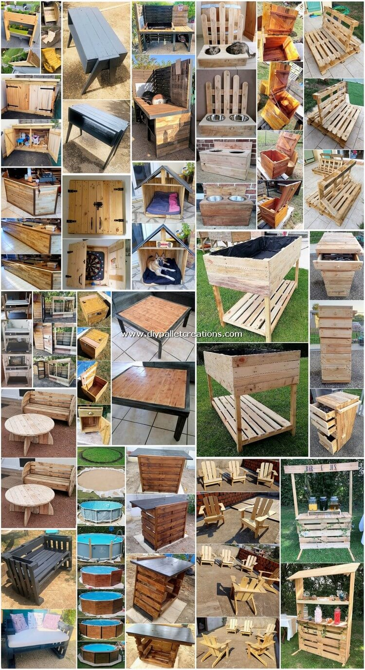 Stunning DIY Wood Pallet Home Furniture Designs