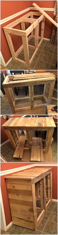DIY Pallet Cabinet Frame