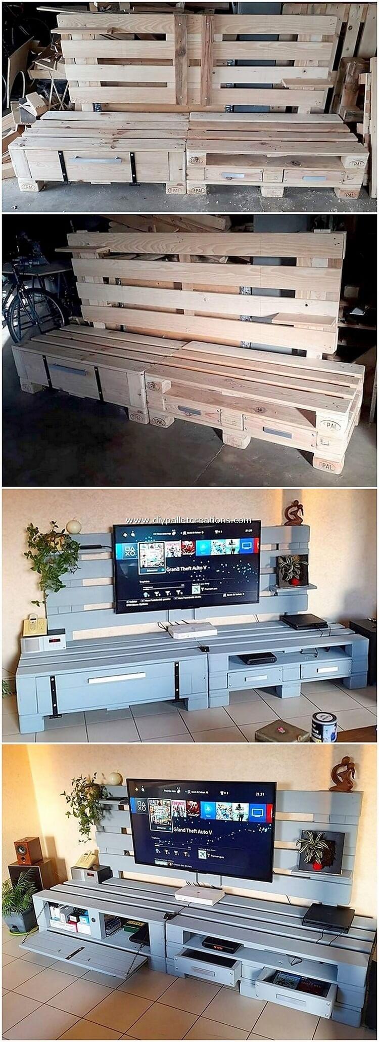 Pallet Media Cabinet