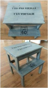 Pallet Table with Bench
