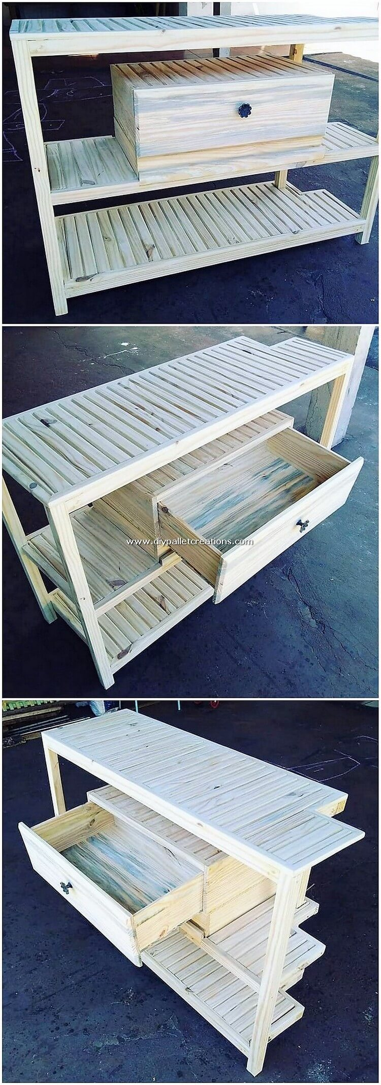 Pallet Wood Table with Drawer