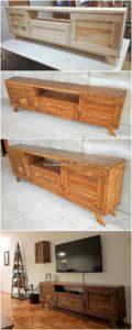 Wood Pallet Media Cabinet